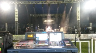 Main Stage soundcheck